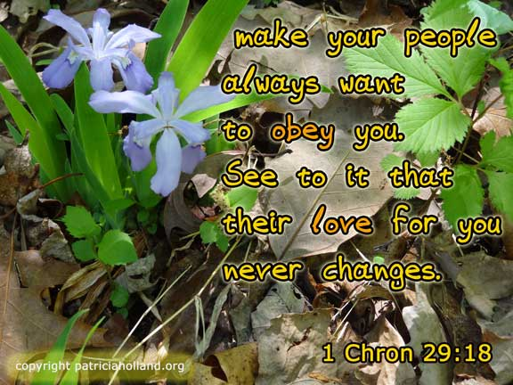 make your people always want to obey you. See to it that their love for you never changes.