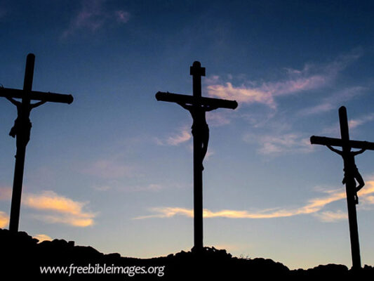 three crosses Jesus died for the sins of the world