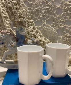 Arcoroc Octime White France Mug Vintage