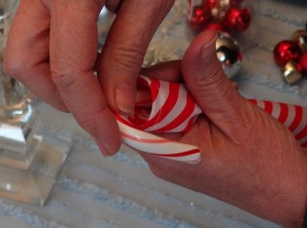 candy cane napkin fold