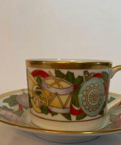Christmas Christian Dior flat cup saucer set