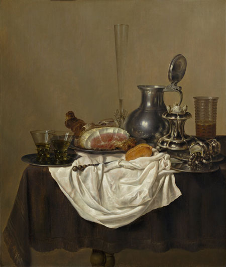 Gerret Willemsz Heda Still Life with Ham
