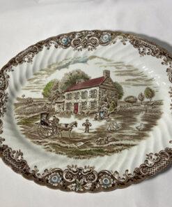 Vintage Johnson Bros Heritage Hall Oval Platter