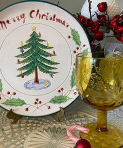 Merry Christmas Tree Plate