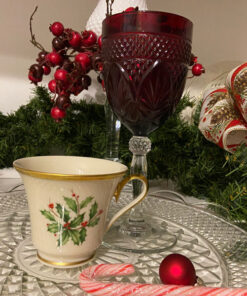Lenox Holiday Cup bone with holy leaves