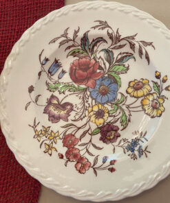 Vernon Kilns May flower Vernonware plates,