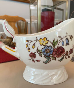 Vernon Kilns May Flower Gravy Boat