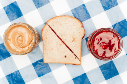 Peanut butter and jelly sandwiches