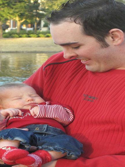 jason holding baby keira