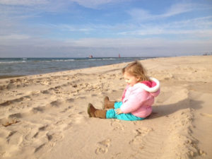 Keira at the beach