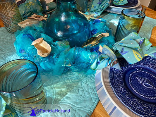 Seashore Table Scape, table decoration