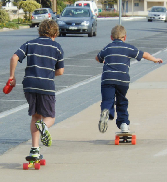 Kids on skateboards reminded me, love is patient