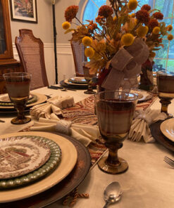 Thanksgiving Complete Table Setting Johnson Bros Wild Turkey Decanter Arrangement